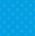 rotunda pattern seamless blue vector image