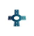 roundabout asphalt road gradient icon vector image