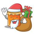 santa with gift jam mascot cartoon style vector image vector image