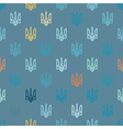 Seamless background with the arms of Ukraine vector image vector image