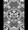 seamless floral antique pattern vector image vector image