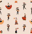 seamless mexican pattern for day of dead vector image