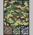 seamless military camouflage patterns for print vector image vector image