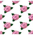 seamless wallpaper pink roses vector image vector image