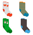 set of socks in a different pattern vector image vector image