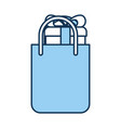 shopping bag with gift vector image vector image