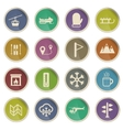 Skiing simply icons vector image vector image