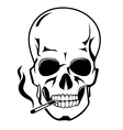 Skull for danger smoke concept vector image