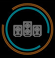 sound system speakers - music icon vector image