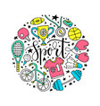 sport circle vector image vector image