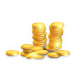 stack of golden bitcoins isometric design modern vector image vector image