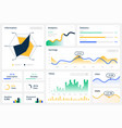 statistics graph template website dashboard vector image vector image