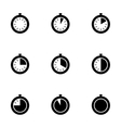 stopwatch icon set vector image