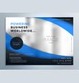stylish blue wavy business brochure design vector image vector image