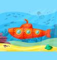 submarine explores ocean depths red vector image