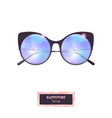 summer cat eye sunglasses with blue gradient vector image