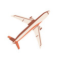 top view flying airplane aircraft flight vector image
