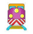 Train locomotive transportation railway icon vector image vector image