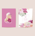 wedding dried rose dahlia pampas grass floral vector image vector image