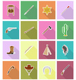 wild west flat icons 18 vector image vector image
