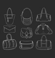 women fashion handbags collection sketch vector image vector image