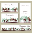 set of templates with trees vector image