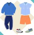 boy cloth vector image