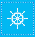 icon helm of the marine flat vector image