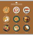 set of popular food vector image