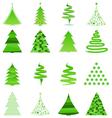 356 - christmas treabstract christmas trees vector image