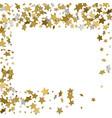 3d gold frame or border of random scatter golden vector image vector image