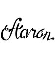 aaron name lettering vector image vector image