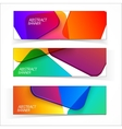 Abstract geometric headers vector image vector image
