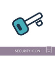 access key icon on white background vector image vector image
