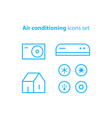 Air conditioning linear logo and icons vector image vector image