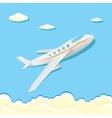 airplane icon cartoon plane in blue sky vector image vector image