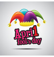april fools day typography colorful vector image vector image