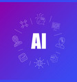 artificial intelligence background from line icon vector image vector image