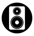 Audio speaker button vector image vector image