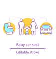 baby car seat concept icon vector image vector image
