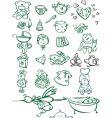 Baby sketches vector image