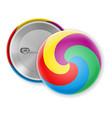 badge pin multicolor label stock vector image vector image