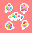 balloons stickers set vector image vector image