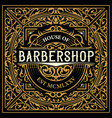 barbershop logo with vintage ornaments vector image