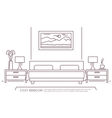 Bedroom Furniture Outline vector image vector image