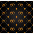 black and gold pattern vector image vector image