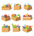 boxes with kid toys icons vector image vector image