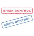 brain control textile stamps vector image vector image
