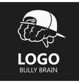 Brain Logo silhouette design vector image vector image
