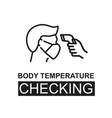 checking body temperature concept vector image